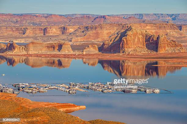 wahweap marina lake powell, page, arizona - lake powell stock pictures, royalty-free photos & images