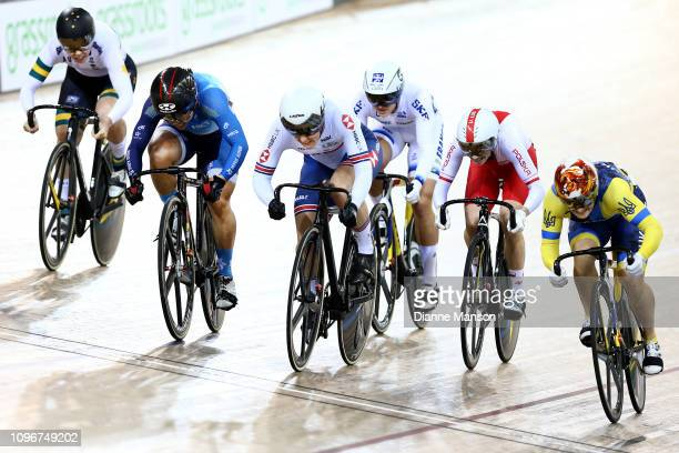 Wai Sze Lee of Hong Kong finishes first in the Women's Keirin final during the 2018 UCI Track World Cup on January 20 2019 in Cambridge New Zealand