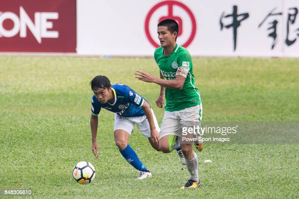 Wai Wong of Wofoo Tai Po in action during the week three Premier League match between BC Rangers and Wofoo Tai Po at Sham Shui Po Sports Ground on...