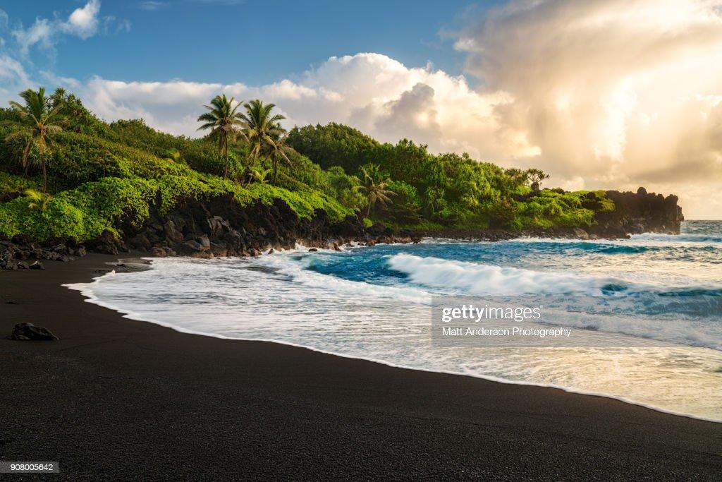 Waianapanapa Beach : Stock Photo