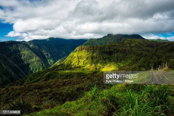 waihee ridge trail, wailuku, maui, hawaii, usa - category:census-designated_places_in_honolulu_county,_hawaii stock pictures, royalty-free photos & images