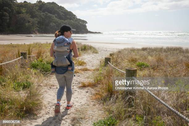 Waihi Beach in Orokawa Scenic Reserve, New Zealand