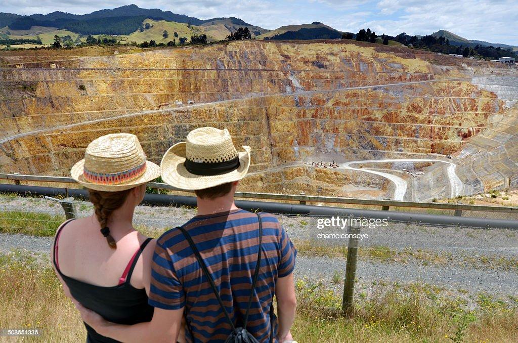 Waihi gold mine town - New Zealand : Stock Photo