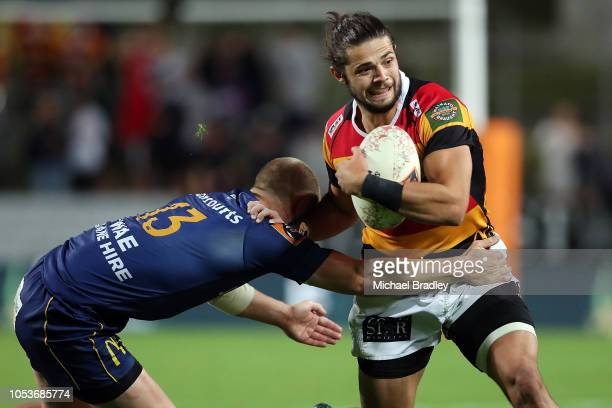 Waikato's Matty Lansdown makes a strong run during the Mitre 10 Cup Championship Final match between Waikato and Otago at FMG Stadium on October 26...