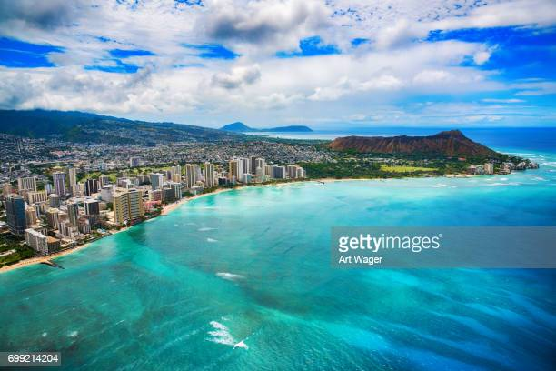 Waikiki Aerial of Honolulu Hawaii
