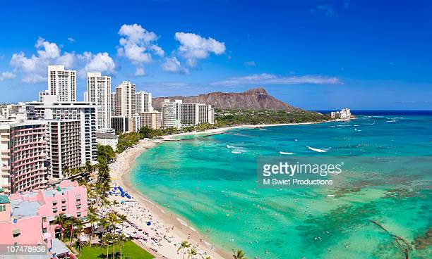 waikiki afternoon - waikiki stock pictures, royalty-free photos & images