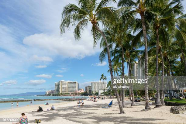 waikiki beach hawaii usa - waikiki stock pictures, royalty-free photos & images