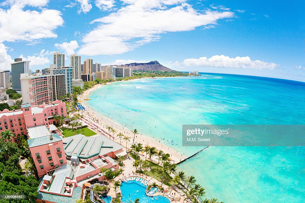 Waikiki beach : Stock Photo