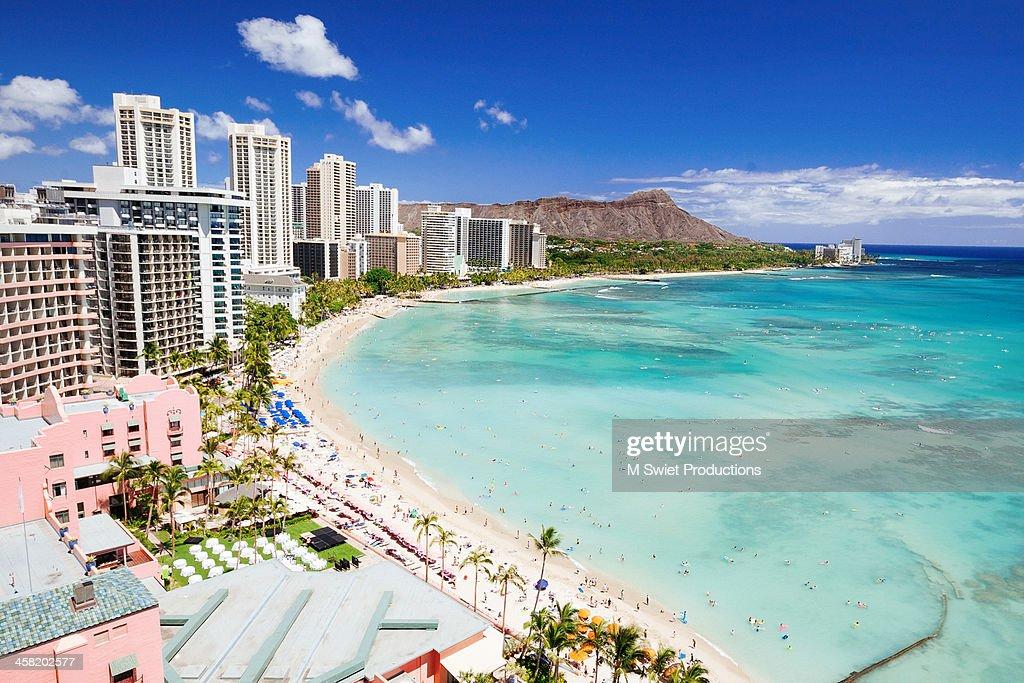 Waikiki beach : Stock Photo