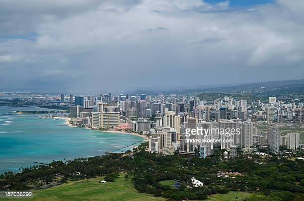 Waikiki Beach Skyline as seen from Diamond Head