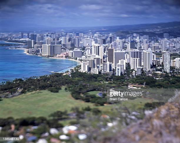 Waikiki, Honolulu, Hawaii, tilt-shift