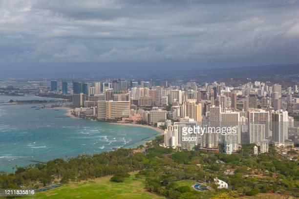 ワイキキ, ホノルル, オアフ島, ハワイ島, アメリカ合衆国 - ワイキキビーチ ストックフォトと画像