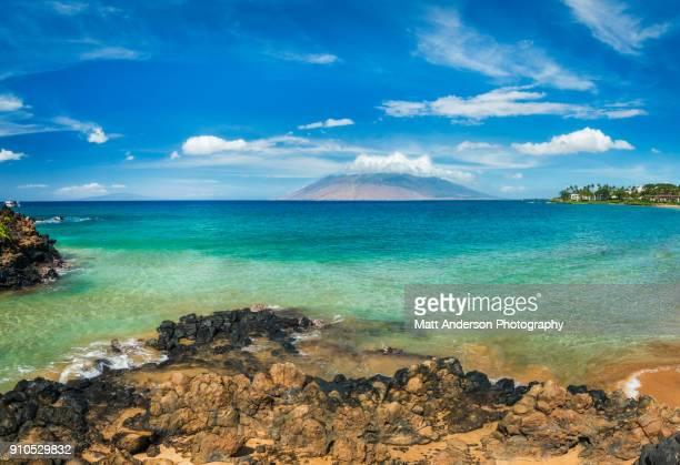 wailea beach maui hawaii #1 - lanai stock photos and pictures