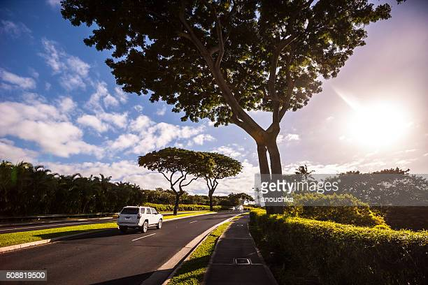 Wailea Beach road, Hawaii, USA