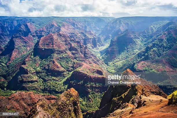 waimea canyon hawaii - waimea canyon stock pictures, royalty-free photos & images