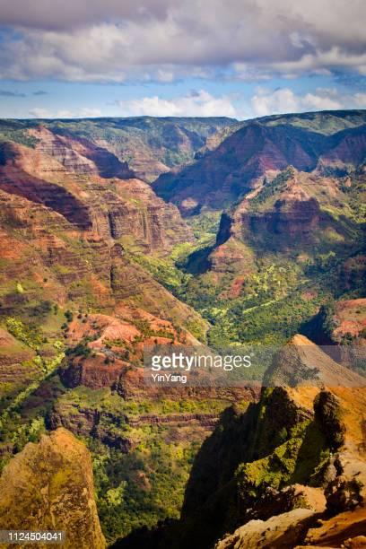 waimea canyon national state park of kauai island, hawaii - waimea canyon stock pictures, royalty-free photos & images