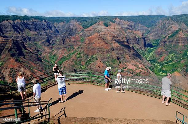waimea canyon on kauai - waimea canyon stock pictures, royalty-free photos & images