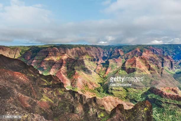waimea canyon (b) - waimea canyon stock pictures, royalty-free photos & images