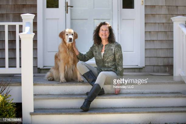 Author Marian Lindberg is shown with her dog Lyra at her Wainscott New York home on March 27 2020 Lindberg is about to release a new book documenting...