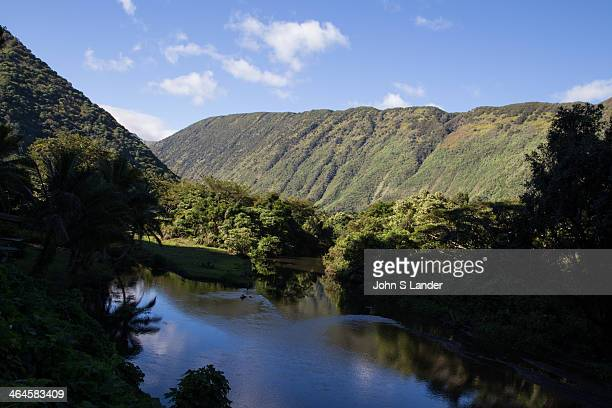 Waipio Valley was the residence of early Hawaiian kings. A steep road leads down into the valley from a lookout point - one of the steepest roads in...