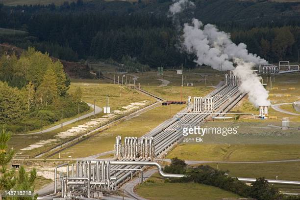 wairakei geothermal project. - hot spring stock pictures, royalty-free photos & images
