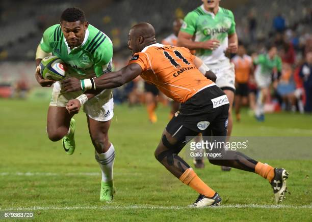 Waisake Naholo of the Highlanders during the Super Rugby match between Toyota Cheetahs and Highlanders at Toyota Stadium on May 05 2017 in...