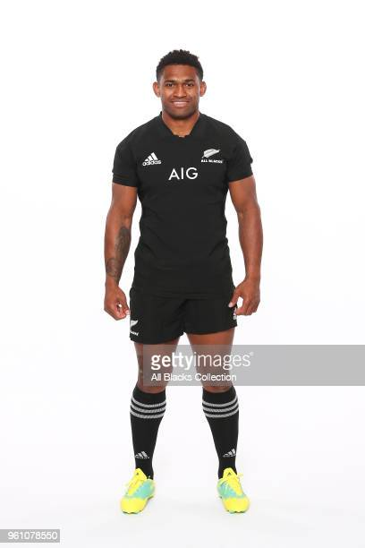 Waisake Naholo poses during a New Zealand All Blacks headshots session on May 21 2018 in Auckland New Zealand