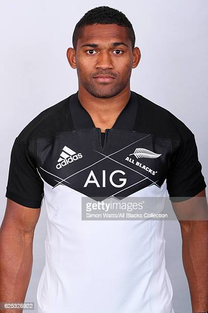 Waisake Naholo poses during the All Blacks End of Year Tour 2016 Headshots Session at Auckland International Airport Novotel on October 28 2016 in...