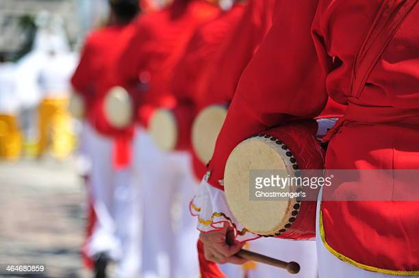 waist drum dancing - chinese music stock pictures, royalty-free photos & images