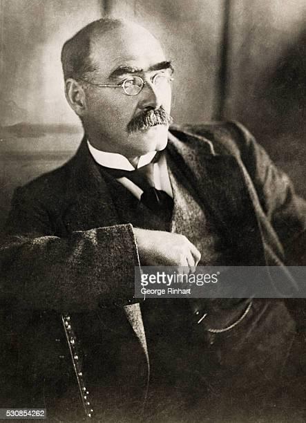 Waist up photo of Rudyard Kipling seated, undated.