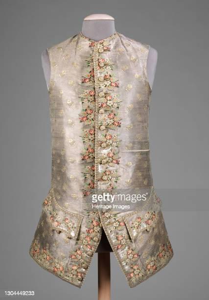 Waistcoat, probably British, 1750-70. Artist Unknown.