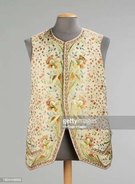 Waistcoat, probably French, 1780-89. Artist Unknown.