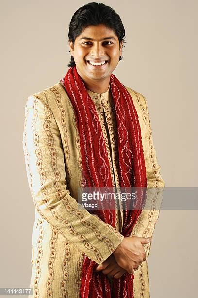 waist-up of a male model - kurta stock pictures, royalty-free photos & images