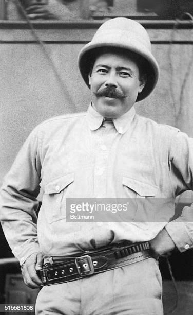 Waistup of Pancho Villa Mexican revolutionary wearing a hat Undated photograph