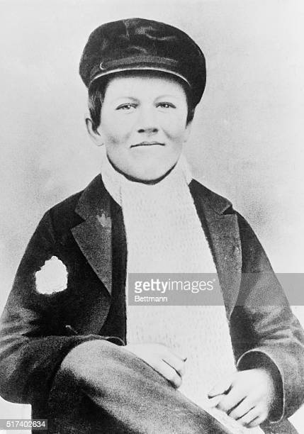 Waistup photograph of Thomas Alva Edison At the age of twelve young Edison was a newsboy and a candy butcher on the Grand Trunk Railroad running from...