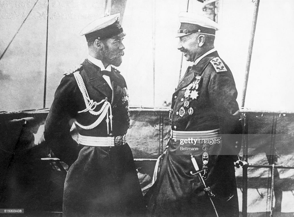 Emperor Wilhelm II and Czar Nicholas II : News Photo