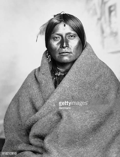 Waistup portrait of a Comanche buck Undated photograph