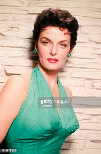 Waistup shot of Jane Russell actress Undated photograph