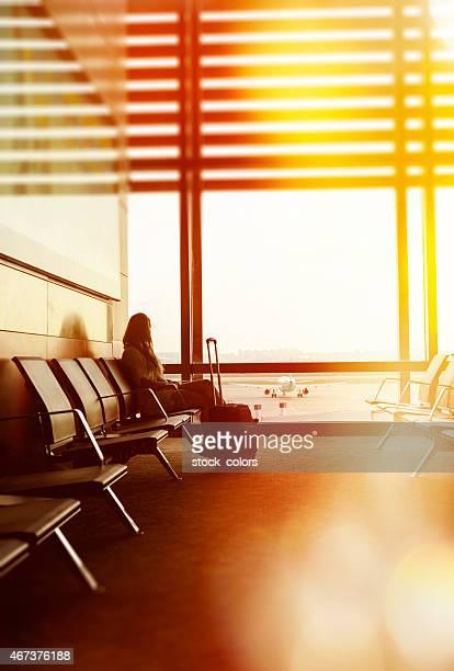 Warten in Flughafen moment