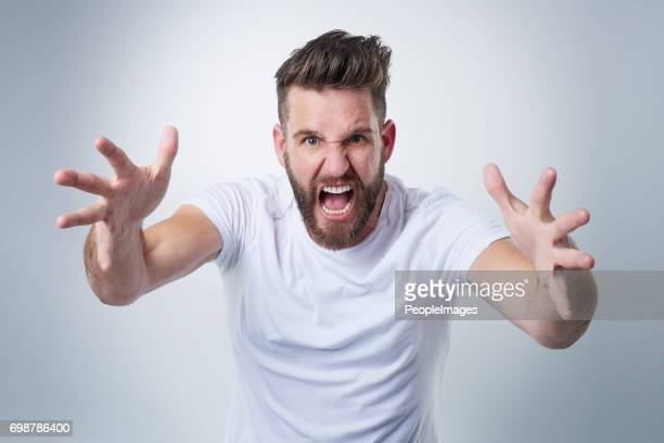 wait till i get my hands on you! - shouting stock photos and pictures