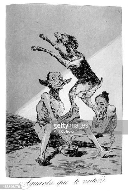 'Wait till you've been anointed' 1799 Plate 67 of 'Los caprichos' Los Caprichos were published in 1799 at a time of social repression and economic...