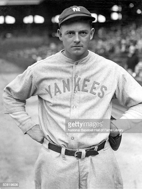 Waite Hoyt of the New York Yankees poses for a portrait. Waite Charles Hoyt played for the Yankees from 1921-1930.