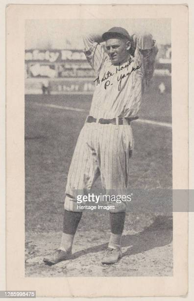 Waite Hoyt, P. Yanks, from Baseball strip cards , circa 1921-22. Artist Unknown.