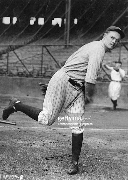 Waite Hoyt, pitcher for the New York Yankees, prepares for the upcoming World Series in New York in October of 1923.
