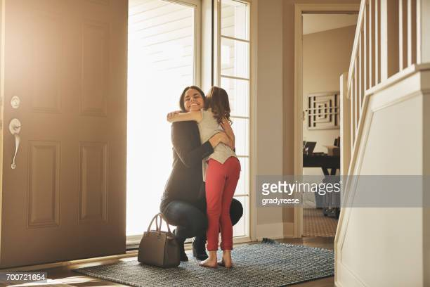 i waited all day for these hugs! - returning stock pictures, royalty-free photos & images