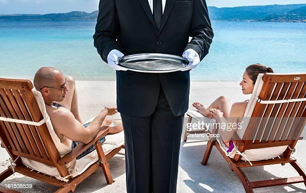 Waiter service on the beach