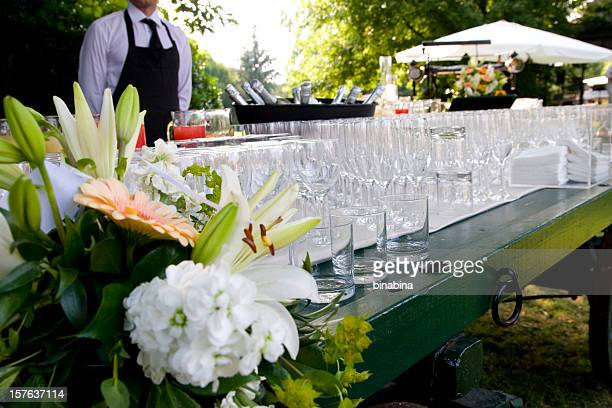 waiter serving at a wedding party
