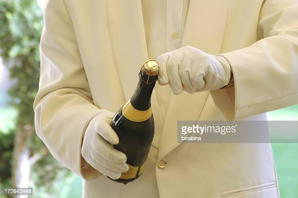 waiter serving - white glove stock pictures, royalty-free photos & images