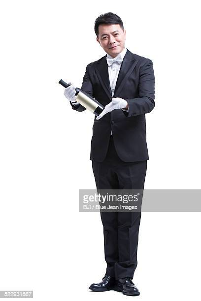 Waiter with a bottle of wine