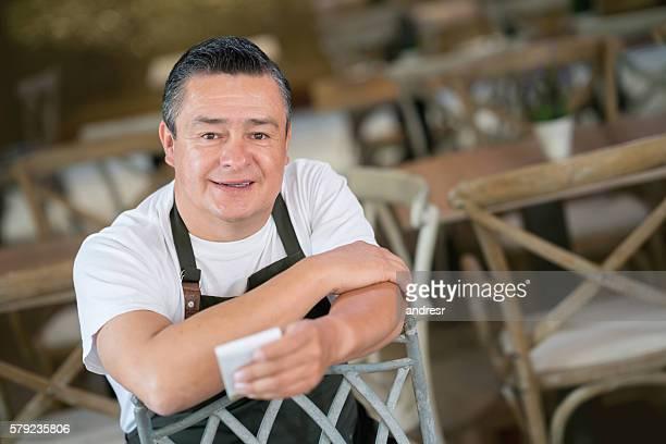 Waiter working at a restaurant